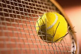 Tennisball and racket